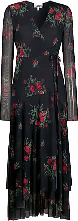 Ganni Vestido longo com estampa floral - Preto
