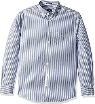 1e6e4c4574 GANT Mens The Broadcloth Banker Stripe Regular Fit Button Down Shirt,  Marine M