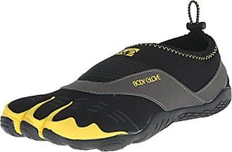 Body Glove Mens 3t Cinch-m Water Shoe, Black/Yellow, 11