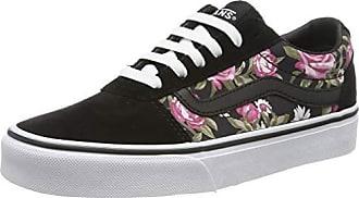 vans femme noir avec des roses