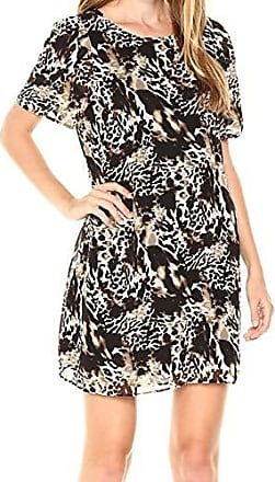 Kensie Sleeveless Mixed-media Floral-print Dress Medium