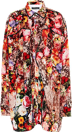 Y / Project Floral velvet shirt
