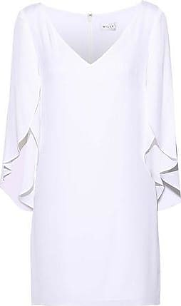 Milly Milly Woman Butterfly Ruffled Silk-blend Mini Dress White Size 8