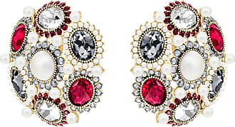 Swarovski Millennium Clip Earrings, Multi-colored, Gold plating