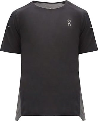 On Panelled Mesh And Technical-jersey T-shirt - Mens - Black
