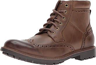 Clarks Mens Curington Rise Ankle Boots, Brown Leather, 12 M US
