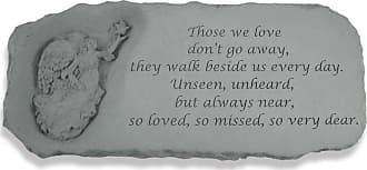 Kay Berry Outdoor Kay Berry Those We Love Dont Go Away Memorial Bench - 29 in. Cast Stone - 37220