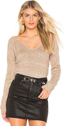 Minkpink Fernanda V Neck Sweater in Taupe