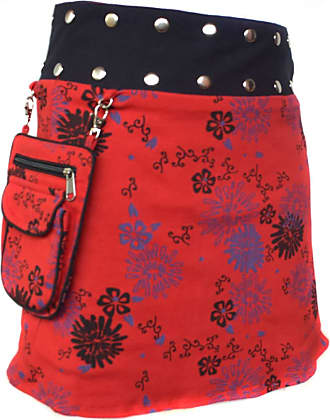 Gheri Floral Short Popper Removable Pocket Reversible Cotton Skirt F