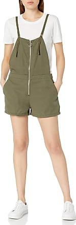 Volcom Womens Vol Plus Shortall Center Zip Romper, Dark Camo, XS