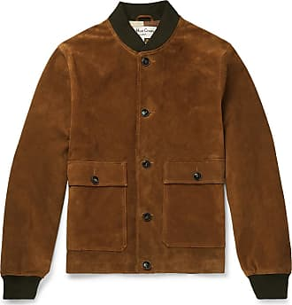 Ymc You Must Create Suede Bomber Jacket - Tan
