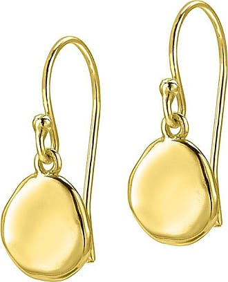 Dower & Hall Round Dimple Pebble Drop Earrings