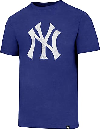47 Brand MLB New York Yankees Knockaround 47 Club Tee - 100% Cotton Crew Neck Distressed Style Print Officially Licensed T Shirt Premium Quality Design and Cra