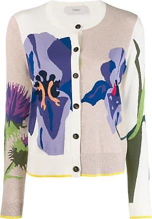 Pringle Of Scotland Cardigã de tricô floral - Neutro