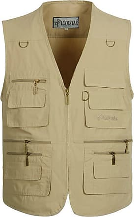 Vdual Men Outdoor Multi Pockets Plus Size Vest Reporter Photography Vest Concealed Carry Waistcoat Sleeveless Jacket Casual Gilet
