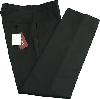 Relco Mens Classic Black Stay Press Trousers Size 34