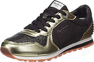 90a59f36179971 Pepe Jeans London London Damen Verona W Winner Sneaker Braun (Dk Brown 898)  37