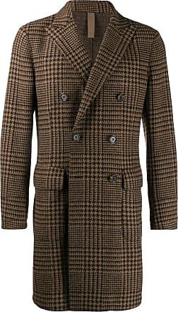 Eleventy houndstooth pattern coat - Marrom