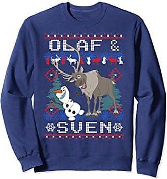 disney unisex disney frozen olaf sven ugly christmas sweater sweatshirt medium navy