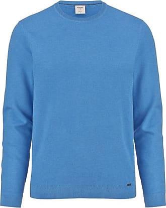 Olymp Level Five Strick Pullover, body fit, Sky, XXL