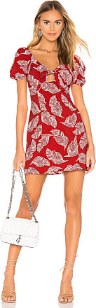 J.O.A. Tie Front Mini Dress in Red