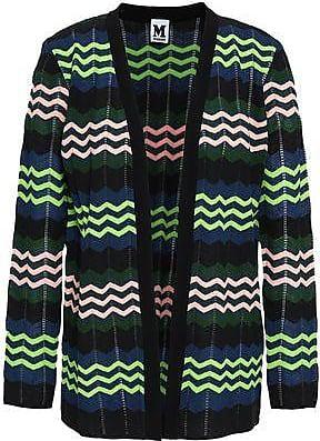 M Missoni M Missoni Woman Crochet-knit Cardigan Lime Green Size 40