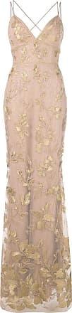 Marchesa long floral dress - Brown