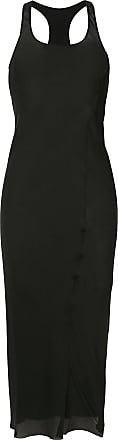 Uma Wang long fitted silk dress - Black