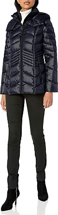 French Connection Womens Chevron Quilted Packable Jacket, Utility Blue, Small