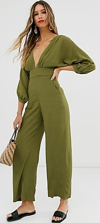 & Other Stories & other Stories low neck jumpsuit in green
