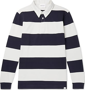 da15d41a9 Norse Projects Ruben Twill-trimmed Striped Cotton-jersey Polo Shirt - White