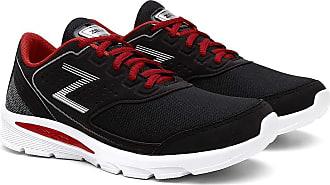 Zeus Tênis Masculino Zeus Conforto Esporte Caminhada. - Preto/vermelho - 35