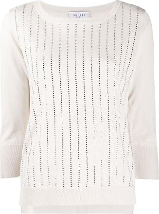 Snobby Sheep Blusa de tricô com detalhe de tachas - Neutro