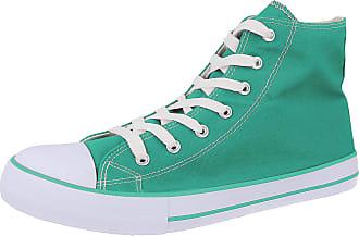 Generic Ladies Canvas Hi Top Lace Up Trainers Size 3-9 (UK 5/ EU 38, Turquoise)