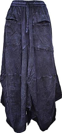 Gheri Womens Cotton Distressed Open Pocket Hi Low Skirt Purple