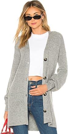 Marled x Olivia Culpo Blouson Sleeve Cardigan in Gray