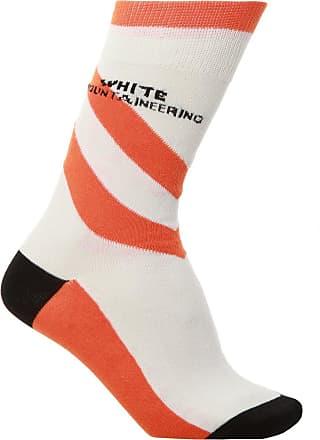 White Mountaineering Logo Socks Mens White