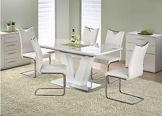Stylefy Mistral Esstisch Weiß 160-220x90x77 cm