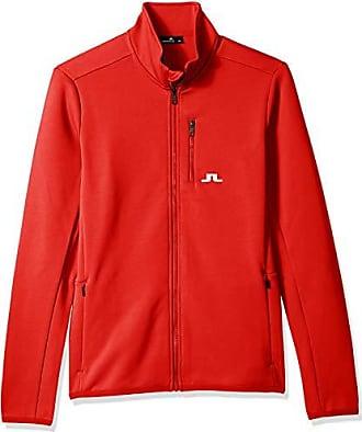 J.Lindeberg Mens Truuli Midlayer Jacket, Racing red XX-Large