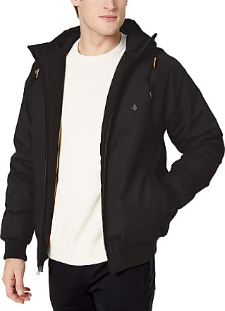 Volcom Mens Hernan Teflon Heavy Weight Hooded Jacket, Black, Medium