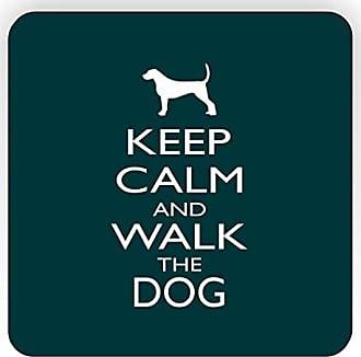 Rikki Knight Rikki Knight Keep Calm and Walk The Dog Design Square Fridge Magnet, Green