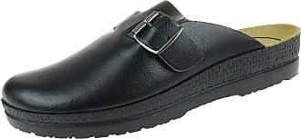 Rohde 151090 Mens Mules Size G 1/2 Black Black Size: 8 UK