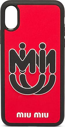 Miu Miu Capa para iPhone X e XS - Vermelho
