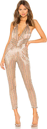 X by NBD Vanessa Jumpsuit in Metallic Silver