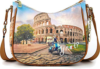 Y Not YNOT Womens Roma print shoulder strap with internal and external pockets YES-432S0. BIOSABORSE