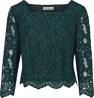 Uta Raasch Lace blouse square neckline Uta Raasch green