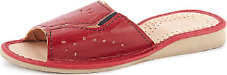 Ladeheid Women´s Leather Shoes Slippers Flipflops LABR27 (Red, 6.5 UK)