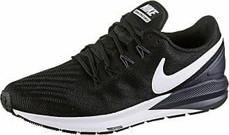 Nike AIR ZOOM STRUCTURE 22 Laufschuhe Herren in black-white-gridiron, Größe 42 1/2