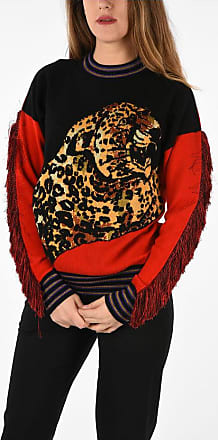 Versace Wool and Cashmere Blend Sweater with Embroidery and Fringe Größe 40