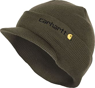 53dc8789ea4 Carhartt Work in Progress Winter Hat with Visor - Green CHA164ARG Mens  Beanie with peak Hat